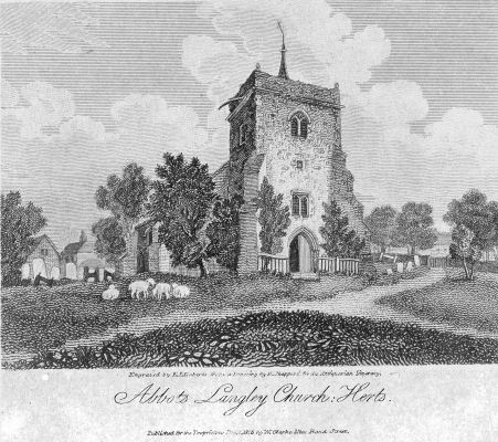 St Lawrence, Abbots Langley Parish Church, 1815