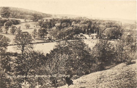 Stocks House and Estate from Moneybury Hill, Aldbury, Herts - Post Card by Dickens
