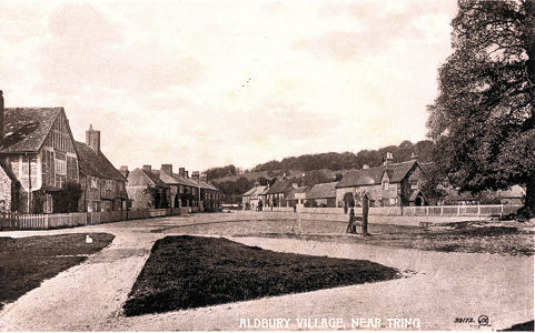 Aldbury Village with Pond and Stocks Valentine Post Card by DeFraine