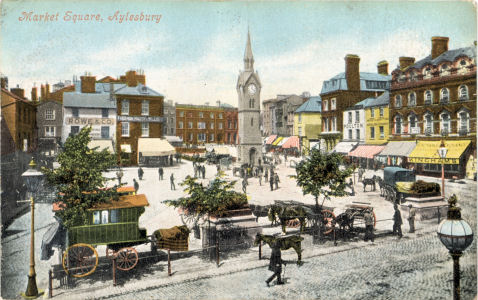 Market Square, Aylesbury, Buckinghamshire, Post Card