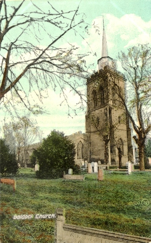 Parish Church Baldock - Valentine Post Card 57693