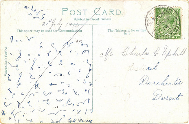 Hidden Messages on Post cards - Shorthand