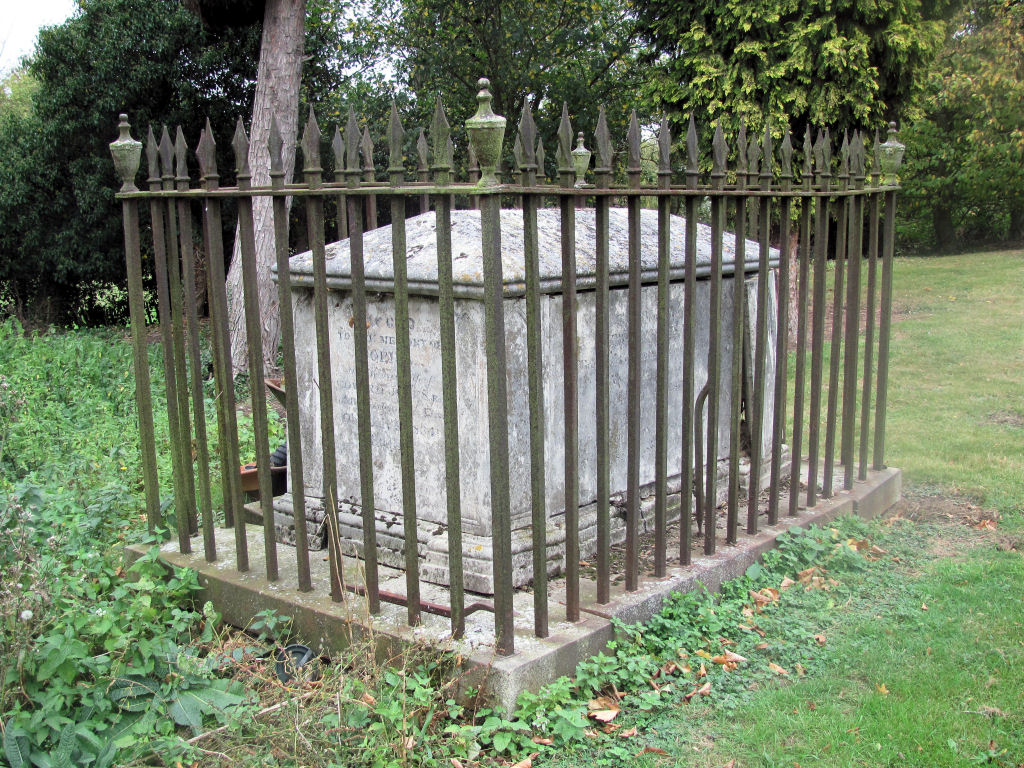 Tomb with Railings, St Mary, Bayford, Hertfordshire