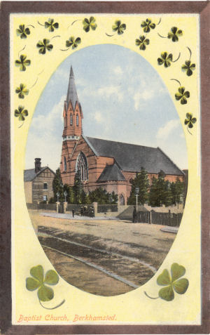 Baptist Church, Berkhamsted, circa 1910 - Published by LN in Castle Series