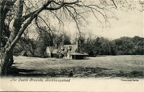 The Castle Grounds, Berkhampstead (Berkhamsted) - Valentine Series Post Card published circa 1905