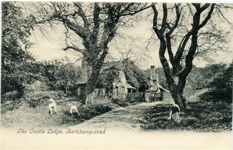 The Castle Lodge, Berkhampstead (Berkhamsted) - Valentine Series Post Card published circa 1905