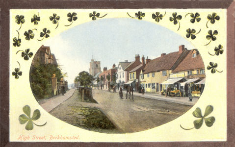 HIgh Street, Berkhamsted, circa 1910 - Published by LN in Castle Series