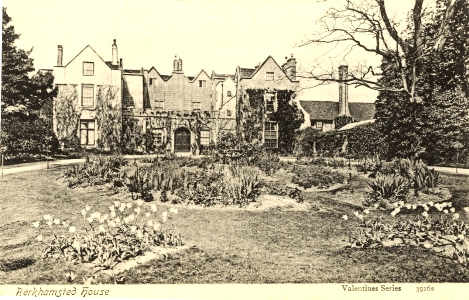 Berkhamsted Place, Hertfordshire - Valentine post card