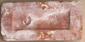 Jacob Reynolds brick, made Bernards Heath, St Albans