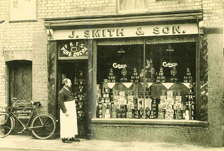 Jeffery Smith's Grocers Shop, Buntingford, c1925
