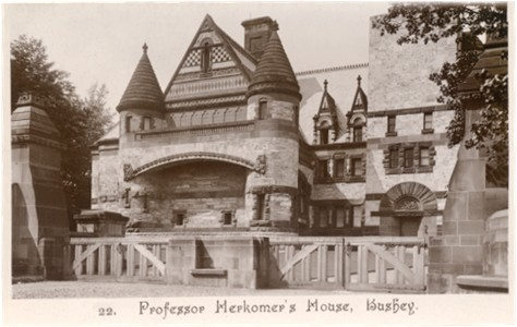 Post card of Professor Herkomer's house, Lululand, Bushey, Hertfordshire