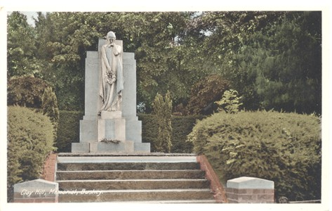 Post card of Clay Hill Memorial, Bushey, Hertfordshire