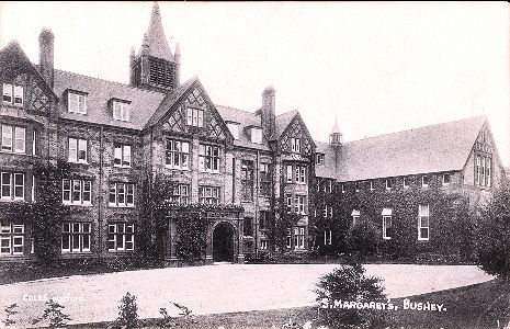 Post card of St Margaret's School, Bushey, Hertfordshire, published by Co;es of Watford