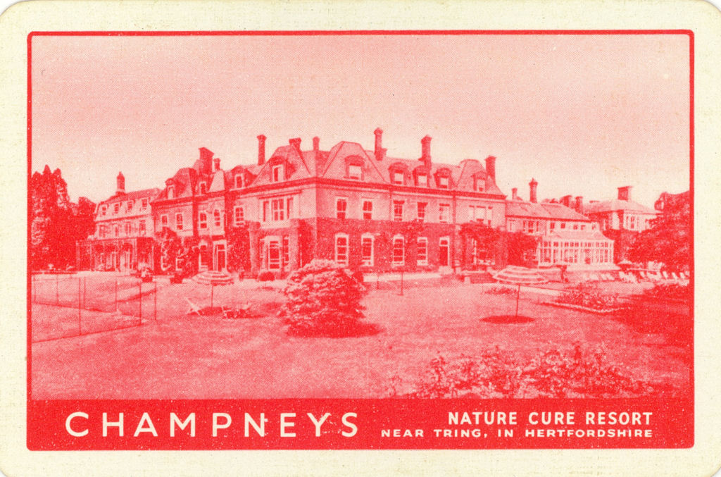 Playing Card showing Champneys Nature Cure Resort
