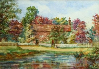 Old Pond Cottage, Chorleywood, by Alice Mary Huntsman