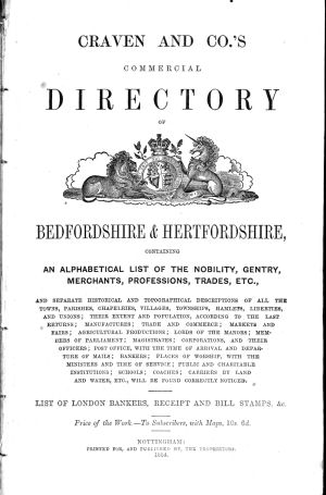 Craven & Co's Commercial Directory of Bedfordshire & Hertfordshire