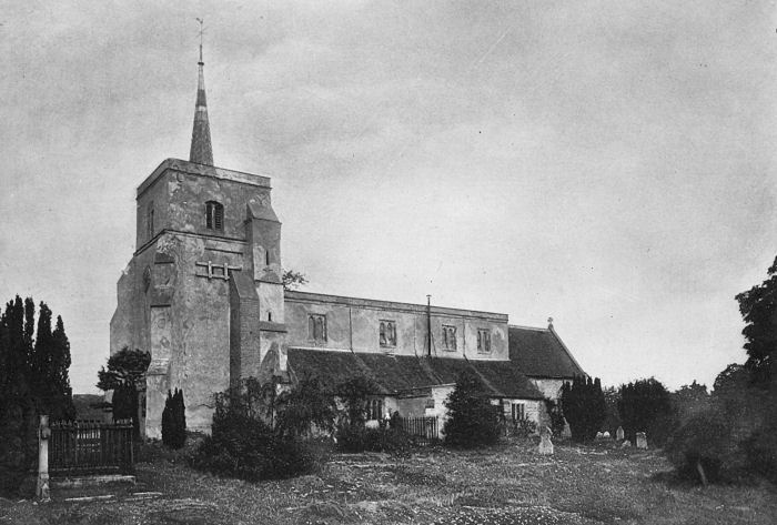 View of St Leonard's Church, Flamstead, Hertfordshire, as it was in 1902