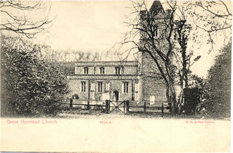 Title: Great Hormead Church - Publisher: G.D. & Son Series 8010 A - Date circa 1903