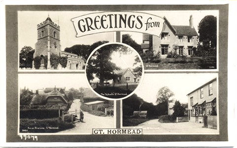 Title: Greetingd from Great Hormead - Publisher: Numbered 99077 - Date: posted 1935