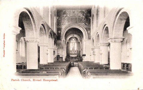 Title: Parish Church, Hemel Hempstead - Publisher: Chester Vaughn Series - Date: Posted 1904