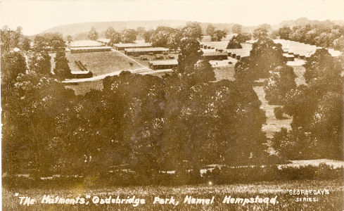 Gadebridge Army Camp, Hemel Hempstead - post card in George Day's Series
