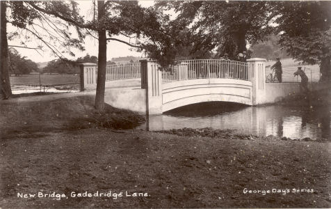 The New Bridge over the Rived Gade at Hemel Hempstead - 1915 - post card in George Day's Series