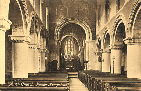 St Mary, Parich Church, Hemel Hempstead - post card by George Day