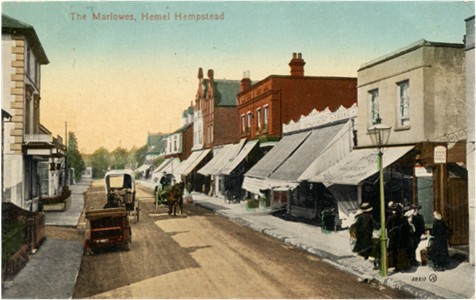 Title: The Marlowes, Hemel Hempstead -Publisher: Valentine Card - Date: circa 1910?