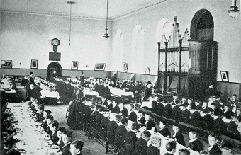 Dining Roon, Christ's Hospital, Hertford, circa 1899