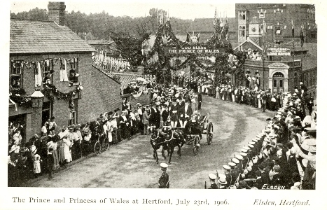 Post Card by Elsden of Hertford, Prince of Wales, King George V