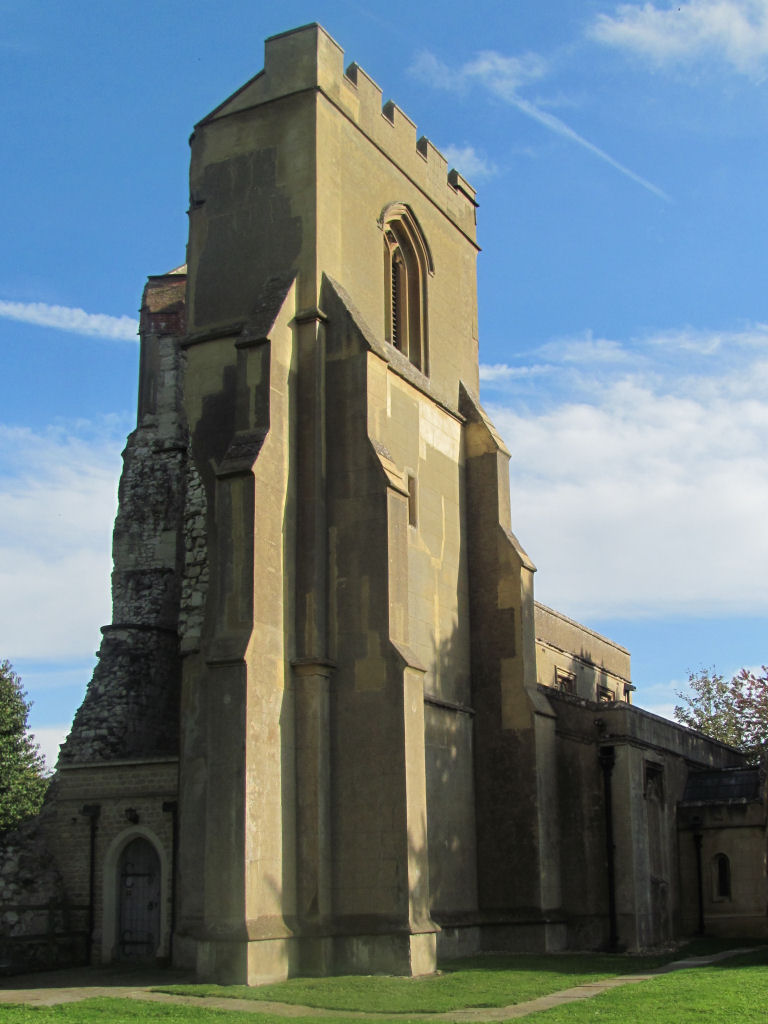 Picture of St Faith, Hexton, Herts, parish church, ruined tower