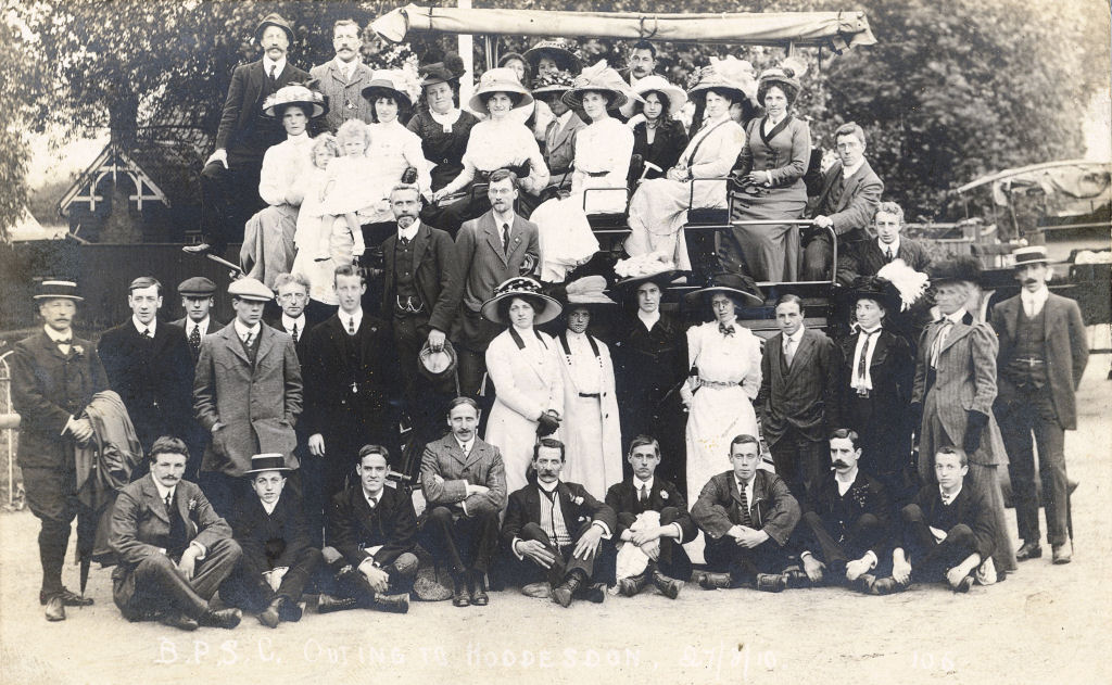 B.P.S.C. (Swimming Club) Outing to Hoddesdon, 1910 - Broomfield Park Swimming Club