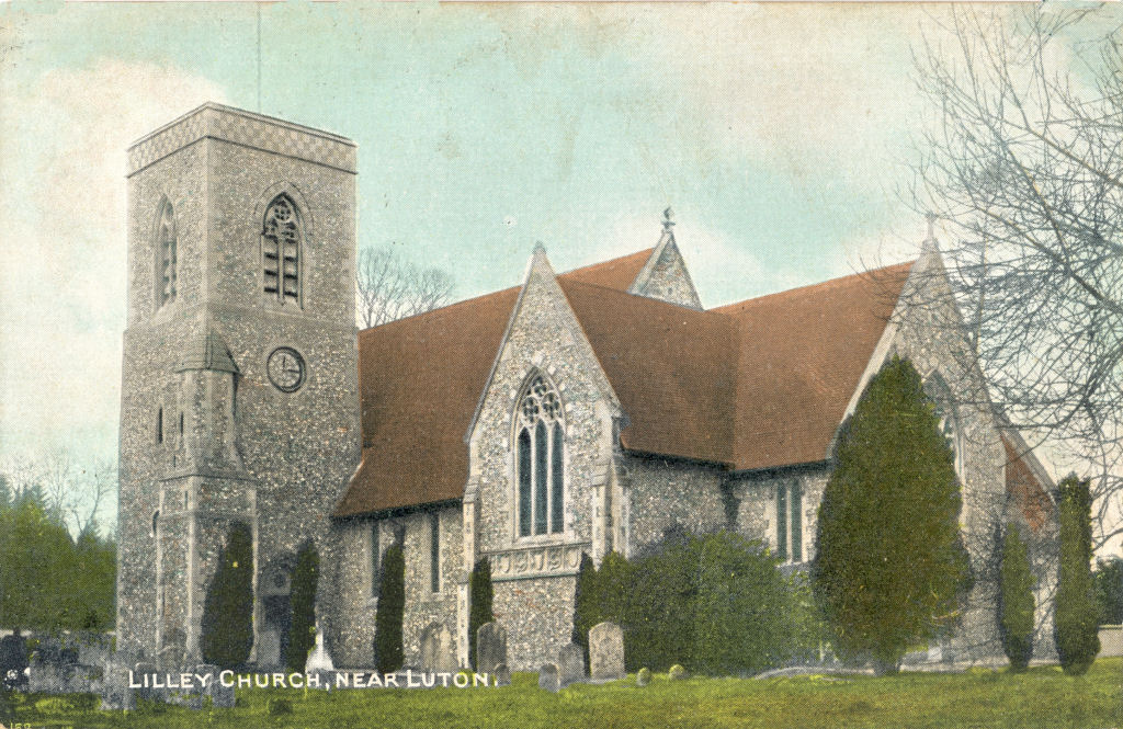Post Card, St Peter's Church, Lilley, Herts