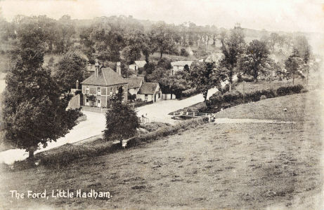 Post card of The Ford, Little Hadham posted 1912, by J. Houghton