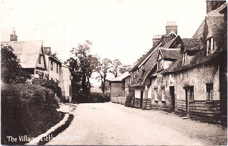 Post Card view of the Village, Little Hadham, by J Houghton