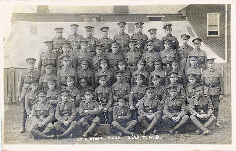 20 Platoon, F Company, 22nd Training Reserve Battalion, at St Albans