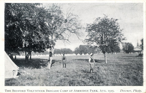 Bedford Volunteer Brigade, Ashridge Park, 1905