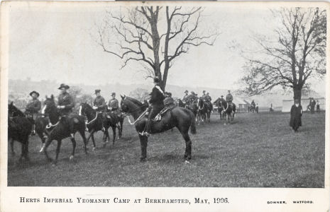 Herts Imperial Yeomanry Camp, Berkhamsted, 1906 - by Downer, Watford