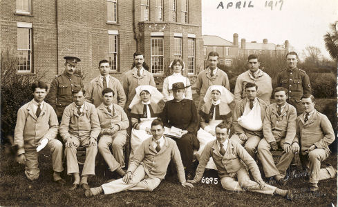 Patients at Napsbury Military Hospital, April 1917