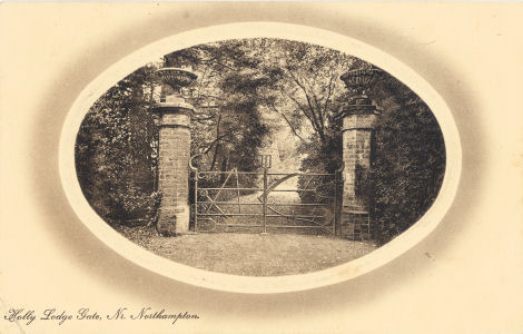 Implement Gate, Holly Lodge, Nr. Northampton - Castle Series of View Cards 611