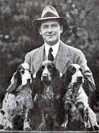 Herbert Summers Lloyd with Cocker Spaniels