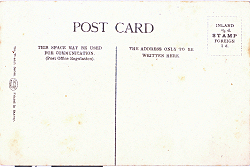 Typical Back - Wernch Series of Postcards 1903/4