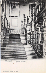 Grand Staircase, Hatfield House, by Wrench