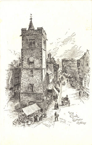 The Clock Tower, St Albans, by F. G. Kitton, circa 1900