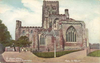 East View of St ALbans Abbey before Restoration - Alpha Post Cards
