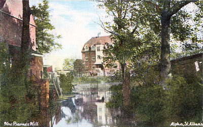 New Barns Mill, St Albans, possibly circa 1890 - Post Card by Alpha, St Albans