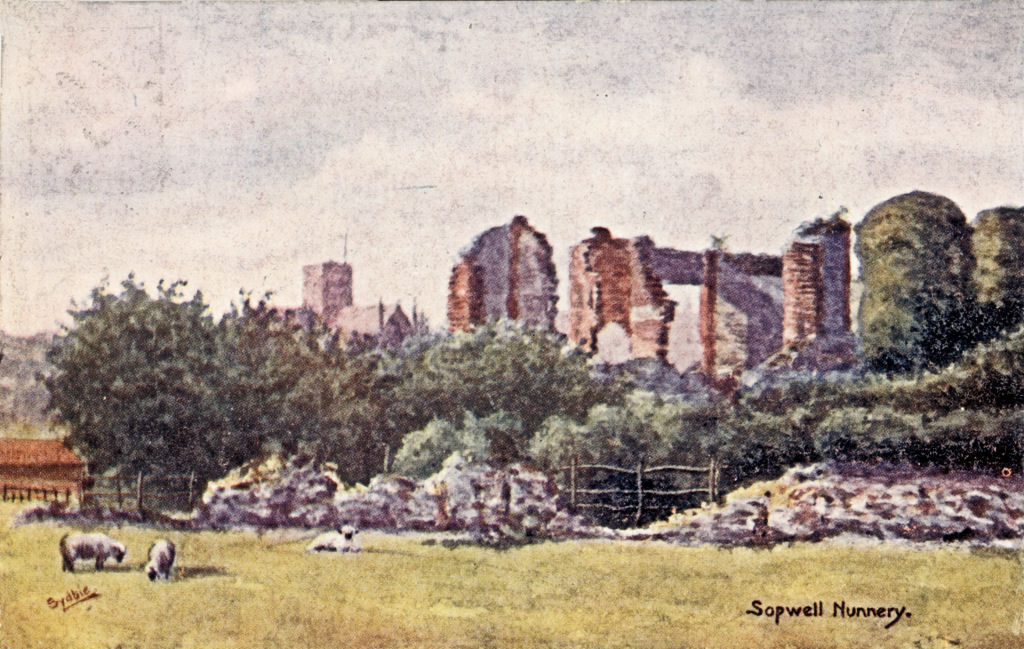 Ruins od Sopwell Nunnery, St Albans, painted bu Sydbie