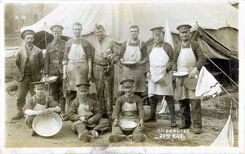 Orderlies, 23rd TRB, First World War, PC by Christmas, St Albans