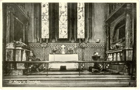 Interior, St Mary, Standon, Herts - RAP post card