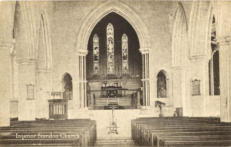 St Mary, Standon, Herts - post card by J Williams